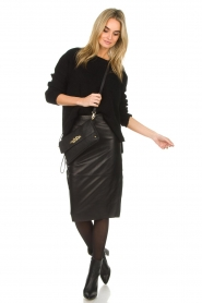 Dante 6 |  Leather pencilskirt Giselle | black  | Picture 3
