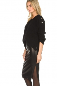 Dante 6 |  Leather pencilskirt Giselle | black  | Picture 4