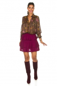IRO |  Skirt Jiga | bordeaux  | Picture 3