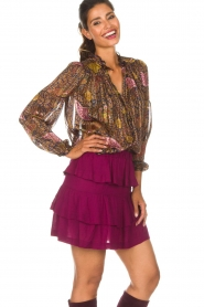 IRO |  Skirt Jiga | bordeaux  | Picture 4
