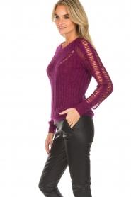 IRO |  Sweater Off | purple  | Picture 4