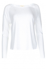 American Vintage |  Basic round neck top l\s Sonoma | white  | Picture 1