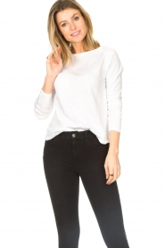 American Vintage |  Basic round neck top l\s Sonoma | white  | Picture 3