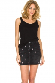 American Vintage |  Sleeveless top Jacksonville | black  | Picture 2