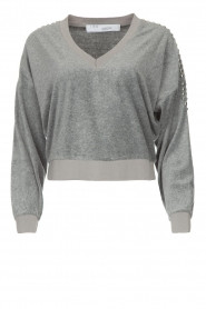 IRO |  Velvet sweater Tapes | grey  | Picture 1