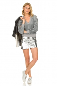 IRO |  Velvet sweater Tapes | grey  | Picture 3