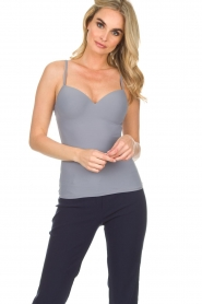 Hanro |  Padded bra top Allure | grey  | Picture 3