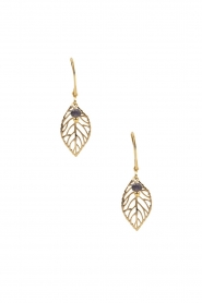 Lilly | 14k goud vergulden oorbellen Little Leaf | goud  | Afbeelding 2