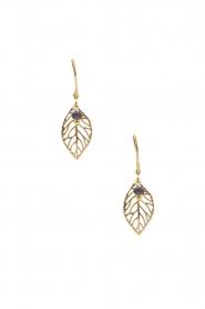 Lilly | 14k goud vergulden oorbellen Little Leaf | goud  | Afbeelding 2