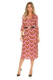 ELISABETTA FRANCHI |  Midi dress Nina | pink  | Picture 4