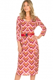 ELISABETTA FRANCHI |  Midi dress Nina | pink  | Picture 2