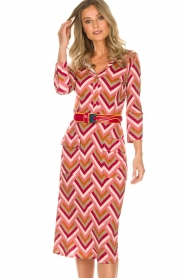 ELISABETTA FRANCHI |  Midi dress Nina | pink  | Picture 5