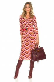 ELISABETTA FRANCHI |  Midi dress Nina | pink  | Picture 3