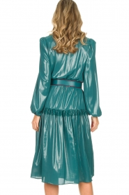ELISABETTA FRANCHI |  Metallic finished midi dress Mariella | blue  | Picture 6