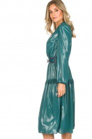 ELISABETTA FRANCHI |  Metallic finished midi dress Mariella | blue  | Picture 5