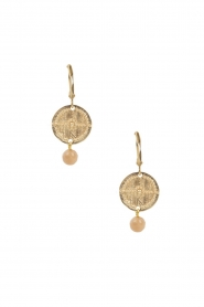 Lilly | 14k goud vergulden oorbellen Filli small | nude  | Afbeelding 2