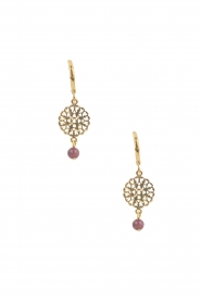 Lilly |  14k gold plated earrings Filli small | nude  | Picture 1