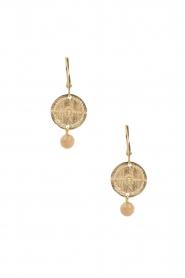 Lilly | 14k goud vergulden oorbellen Inca | goud  | Afbeelding 2