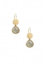 Lilly | 18k goud vergulden oorbellen Precious Drop S | blauw  | Afbeelding 2