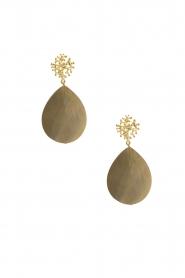 Lilly | 18k goud vergulden oorbellen Treestuk Shelldrop | goud  | Afbeelding 2