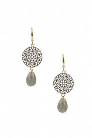 Lilly |  14k gold plated earrings Filli large | gold  | Picture 1