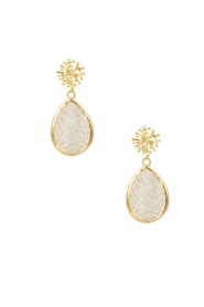 Lilly |  18k earrings Motherpearl | white  | Picture 2
