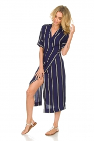BEACHGOLD |  Wrap dress Melanie | blue  | Picture 3
