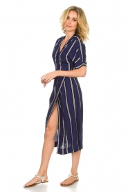 BEACHGOLD |  Wrap dress Melanie | blue  | Picture 4