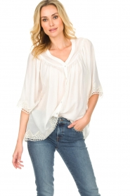 Rabens Saloner |  Blouse Elicia | white  | Picture 2