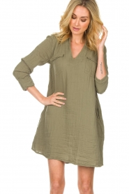 Rabens Saloner |  Dress Agna | green  | Picture 2