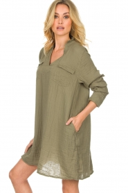 Rabens Saloner |  Dress Agna | green  | Picture 5