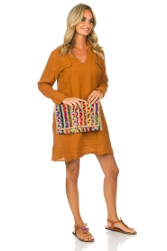 Rabens Saloner |  Dress Agna | brown  | Picture 3