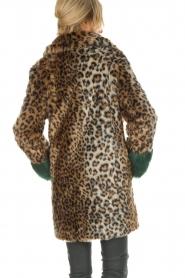 Kocca | Faux-fur jas met luipaardprint Gillet | dierenprint  | Afbeelding 6