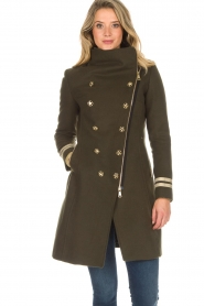 Kocca |  Coat with faux fur collar Bawtok | green  | Picture 2