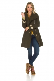 Kocca |  Coat with faux fur collar Bawtok | green  | Picture 3