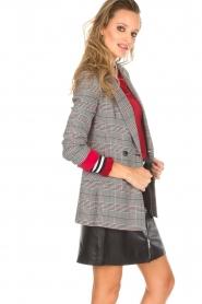 Kocca |  Checkered blazer Giolly | grey  | Picture 5