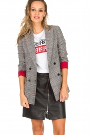 Kocca |  Checkered blazer Giolly | grey  | Picture 7