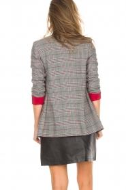 Kocca |  Checkered blazer Giolly | grey  | Picture 8