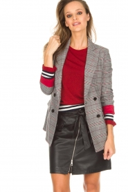 Kocca |  Checkered blazer Giolly | grey  | Picture 2