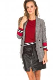 Kocca |  Checkered blazer Giolly | grey  | Picture 4