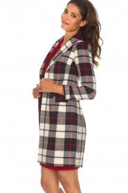 Kocca |  Checkered coat Erada | blue  | Picture 4