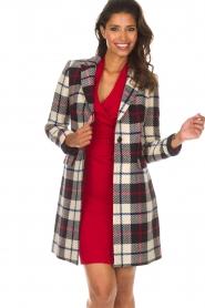 Kocca |  Checkered coat Erada | blue  | Picture 2