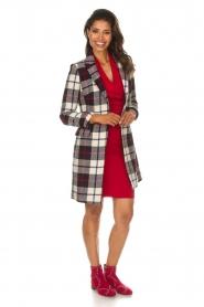 Kocca |  Checkered coat Erada | blue  | Picture 3