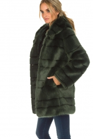 Kocca | Faux-fur jas Kimberly | groen  | Afbeelding 5