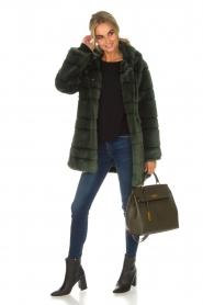 Kocca | Faux-fur jas Kimberly | groen  | Afbeelding 3