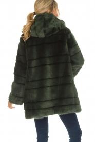 Kocca | Faux-fur jas Kimberly | groen  | Afbeelding 6