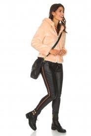 Kocca | Faux-fur jas met capuchon | nude  | Afbeelding 3