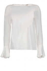 Kocca |  Top with trumpet sleeves Eliva | white  | Picture 1