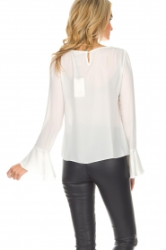 Kocca |  Top with trumpet sleeves Eliva | white  | Picture 6