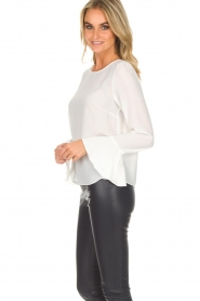 Kocca |  Top with trumpet sleeves Eliva | white  | Picture 5